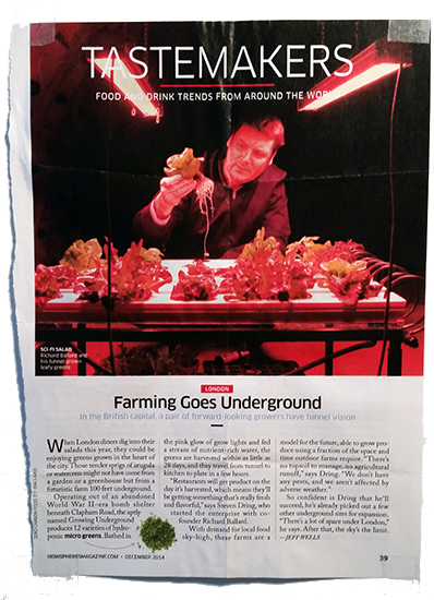 Inspiration - Farming Goes Underground - December 2014
